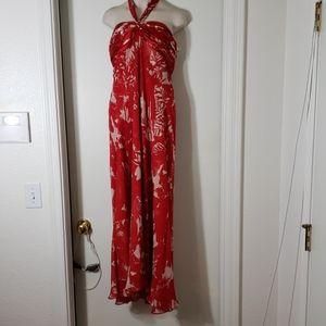 Donna Ricco silk strapless floral dress